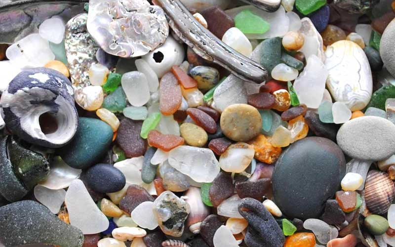beach glass finds