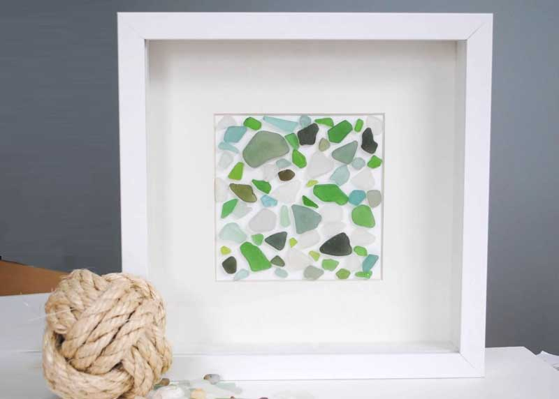framed sea glass