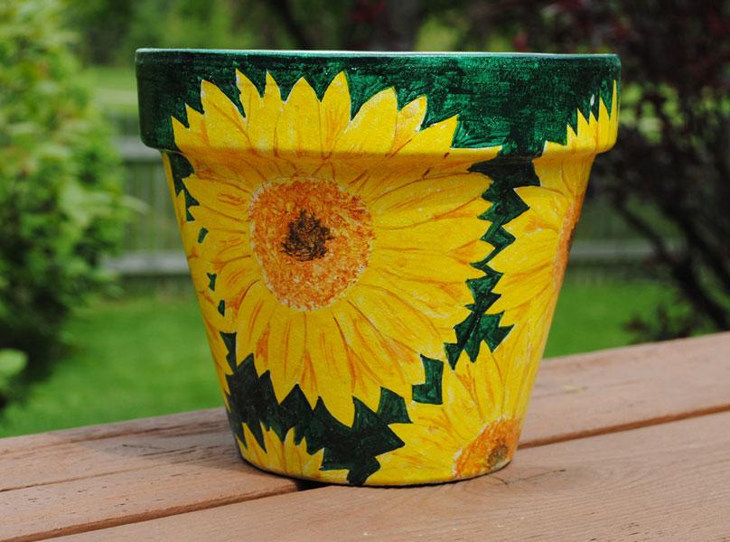 Tutorial Paint A Terracotta Pot