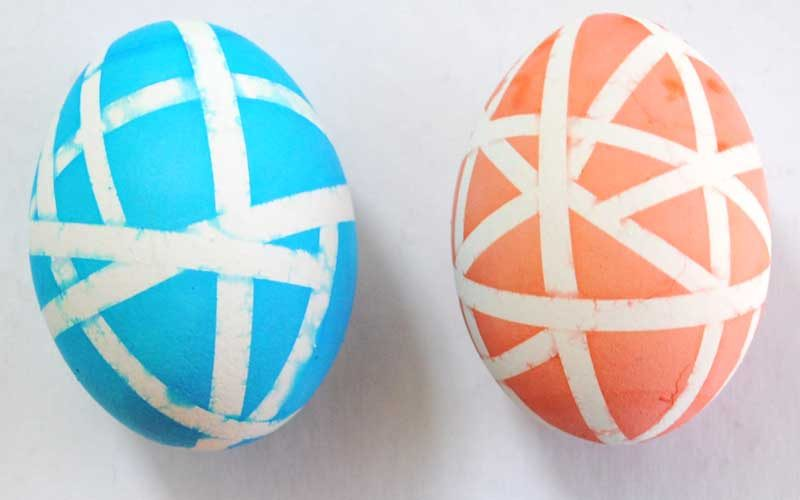 pattern dyed easter eggs