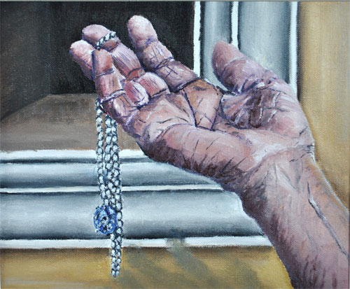 old hand oil painting