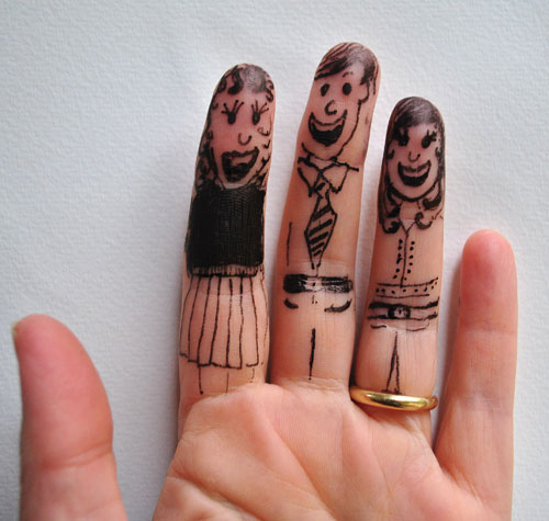 finger art