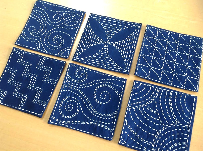 Sashiko Squares by Creative in Chicago