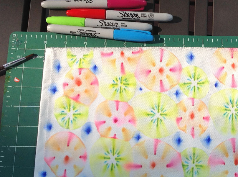 Design your own fabric using sharpies