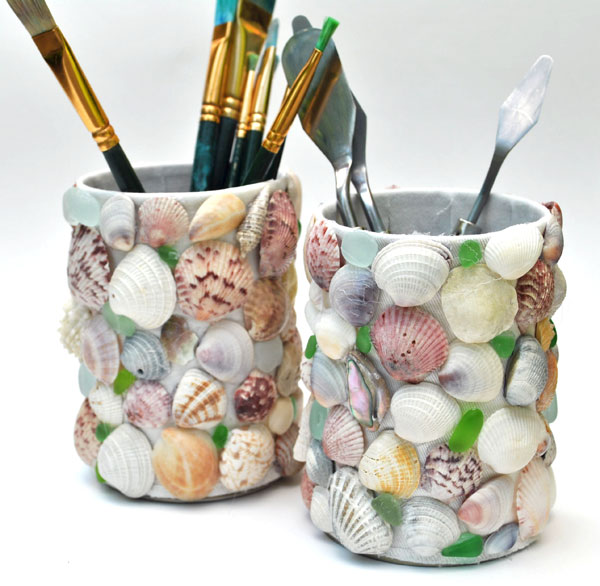 sea-shell-sea-glass-craft-pot-1