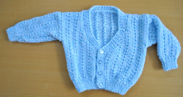 baby cardigan in blue