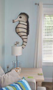 cardboard sea horse