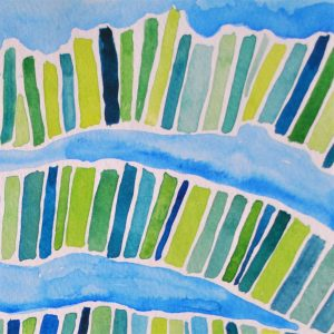 watercolor abstract lines