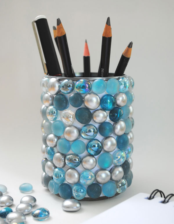 bling pencil pot DIY