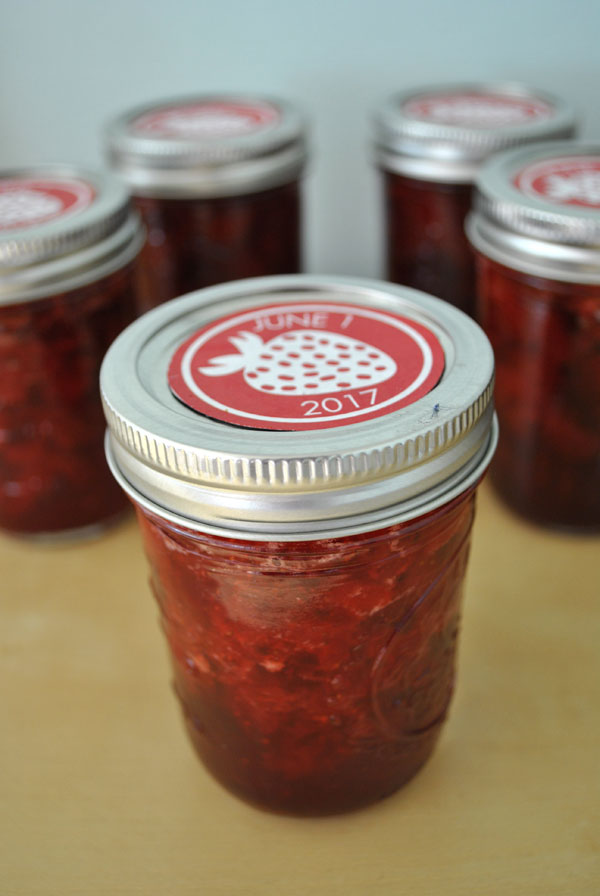 free label strawberry jam