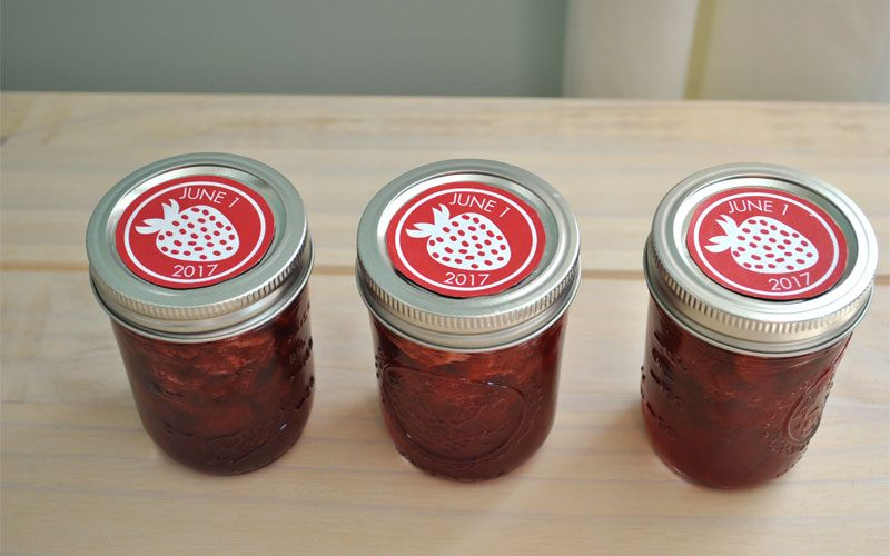 free label- trawberry jam