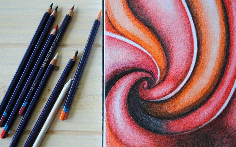 inktense pencil abstract art