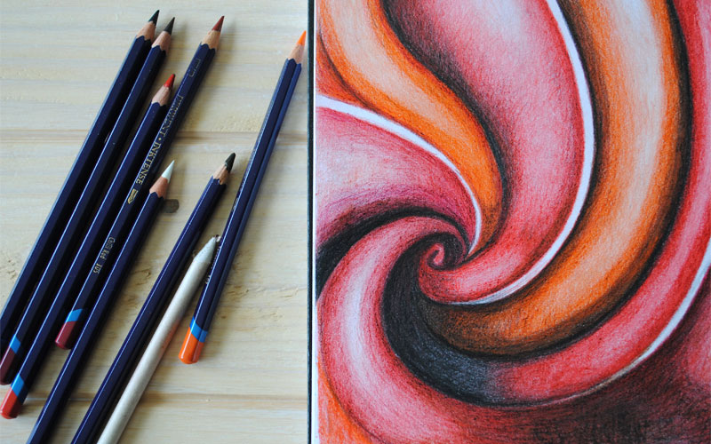 inktense pencil abstract art