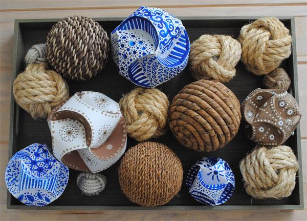 paper orbs and decorative balls