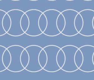 blue bubble abstract fabric
