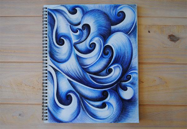 blue waves art
