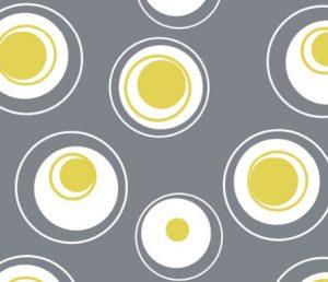 contemporary circles geometric fabric