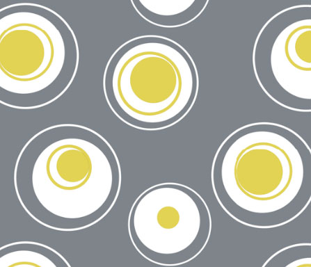 contemporary fabric circles