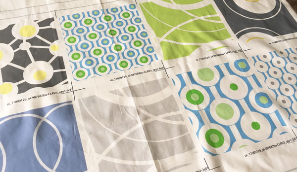 proofed fabric contemporary fabric circles