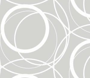 swirly whirly grey geaometric fabric