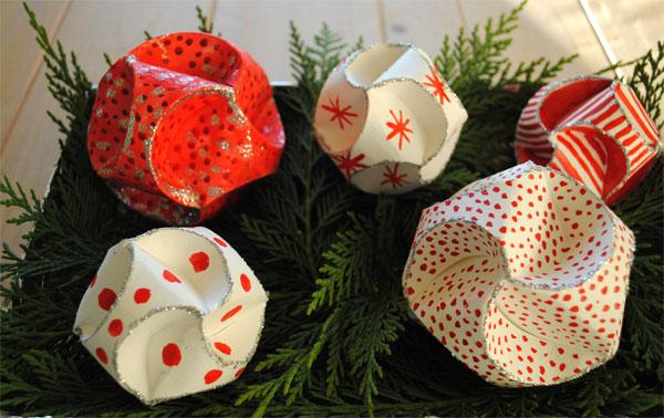festive christmas orbs