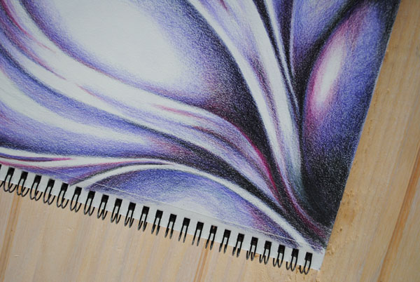 inktense abstract purple