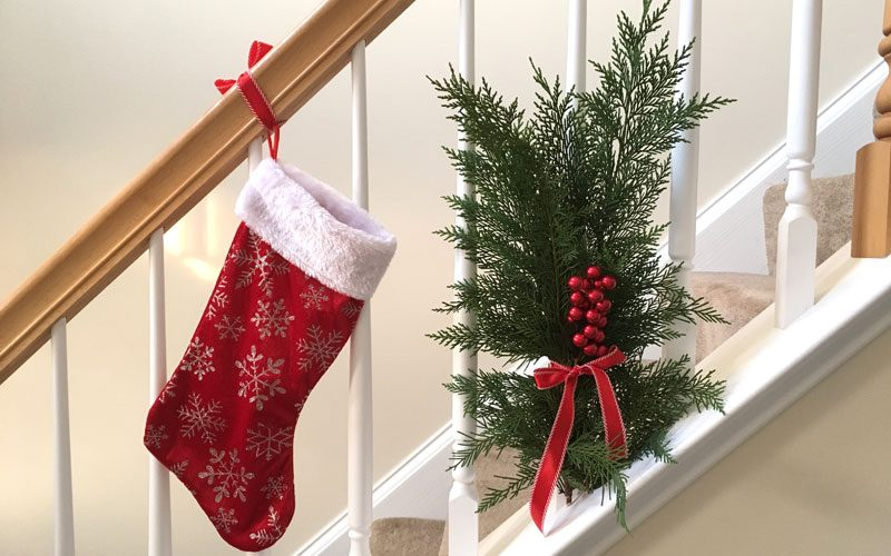 how to decorate your stairs for christmas