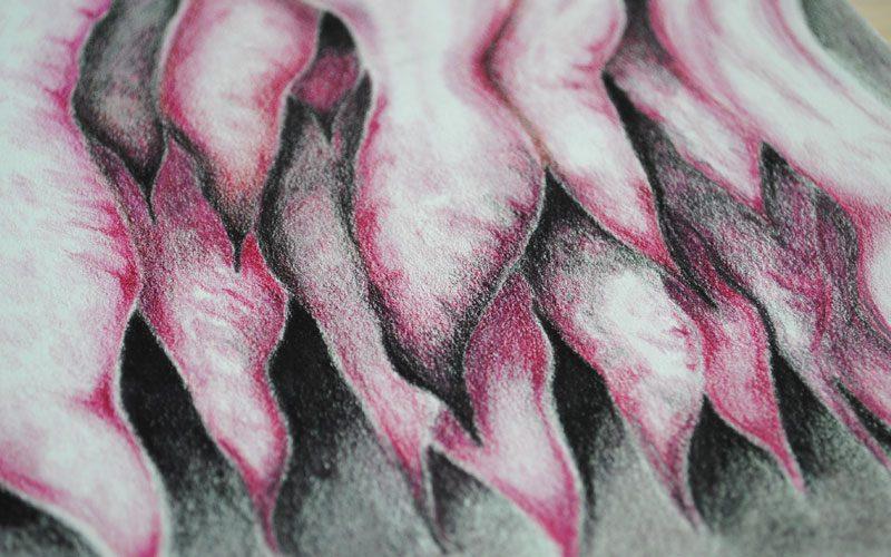 stalactites abstract