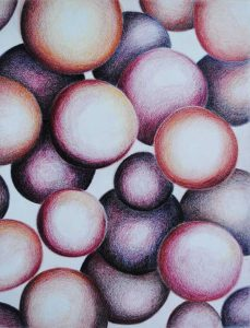Inktense color pencil orbs