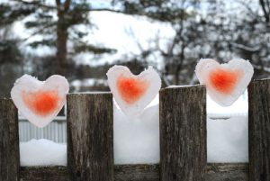 valentine ice hearts