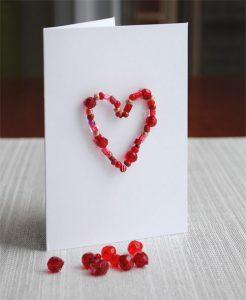 valentine bead card