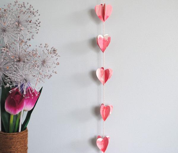 valentine heart garlnad