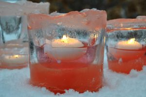 pink ice votives