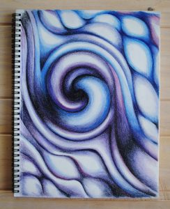blue and purple swirl abstract