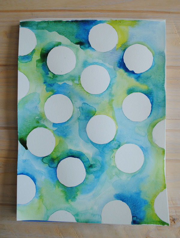 water color negative circles