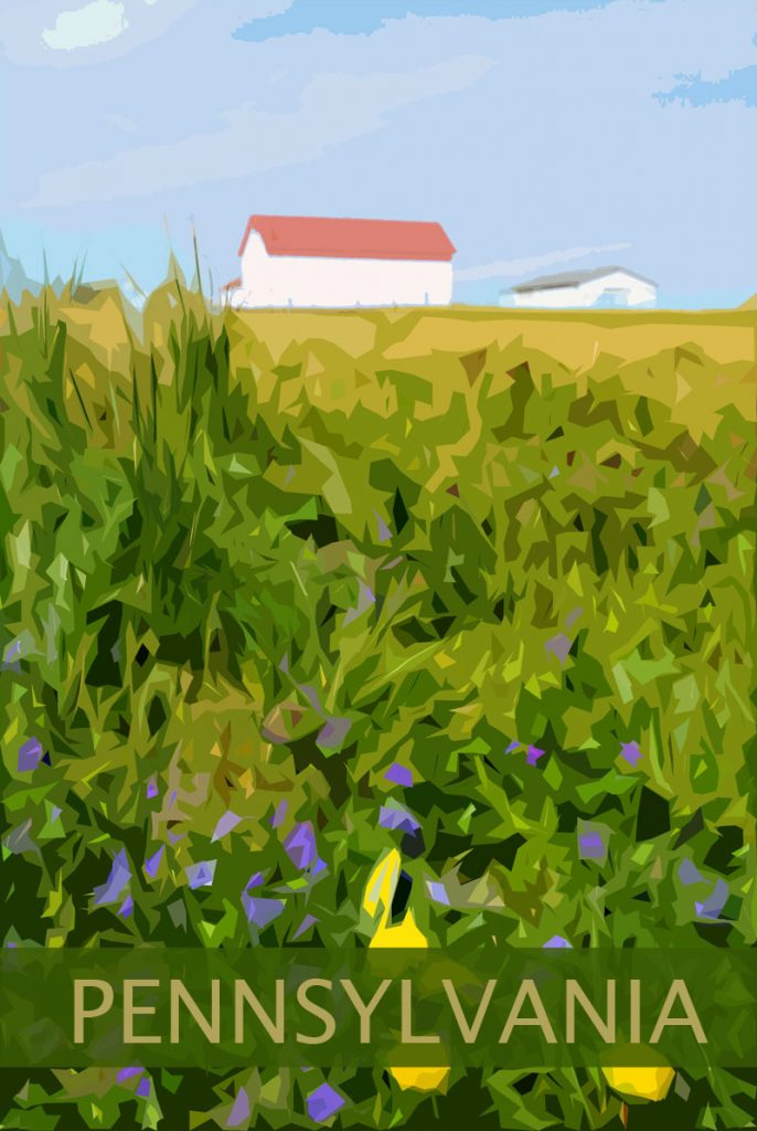 red barn pennsylvania poster art