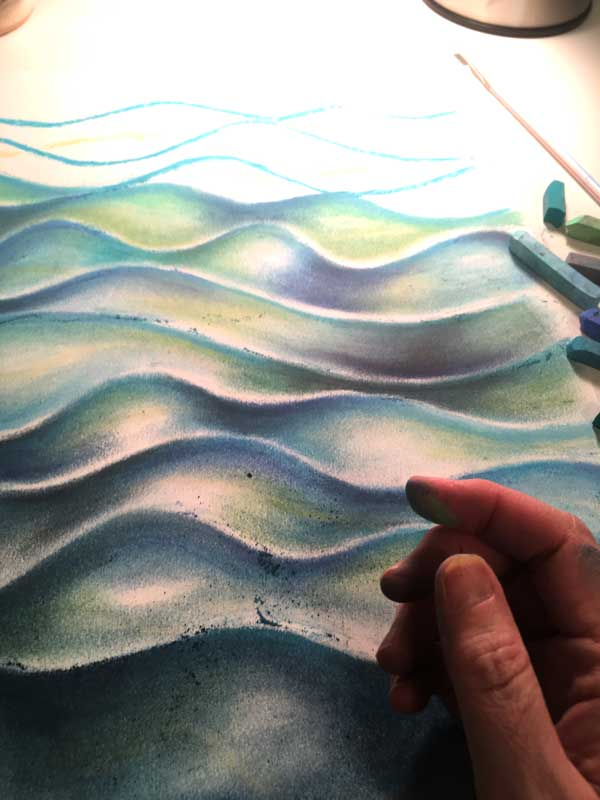 chalk pastel art-in progress