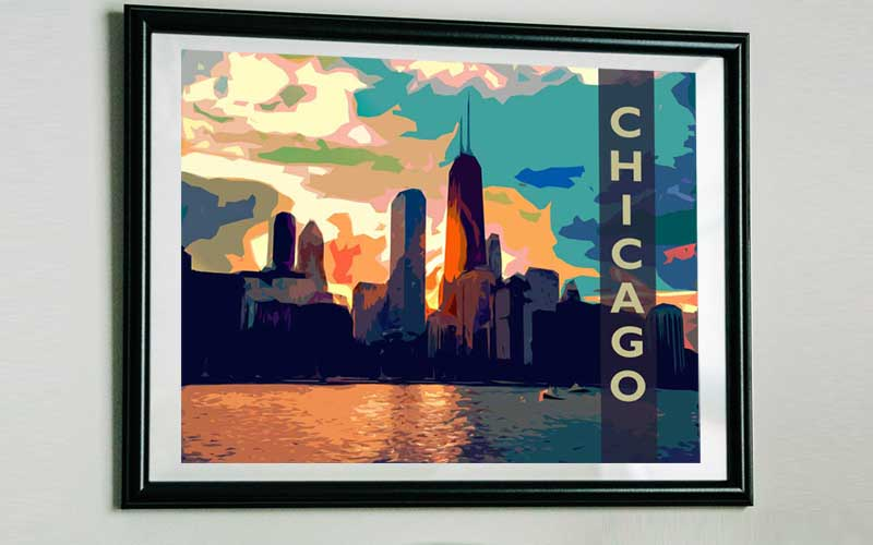 free chicago poster