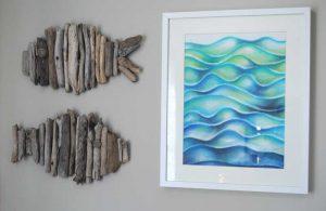 ocean abstract in pastel