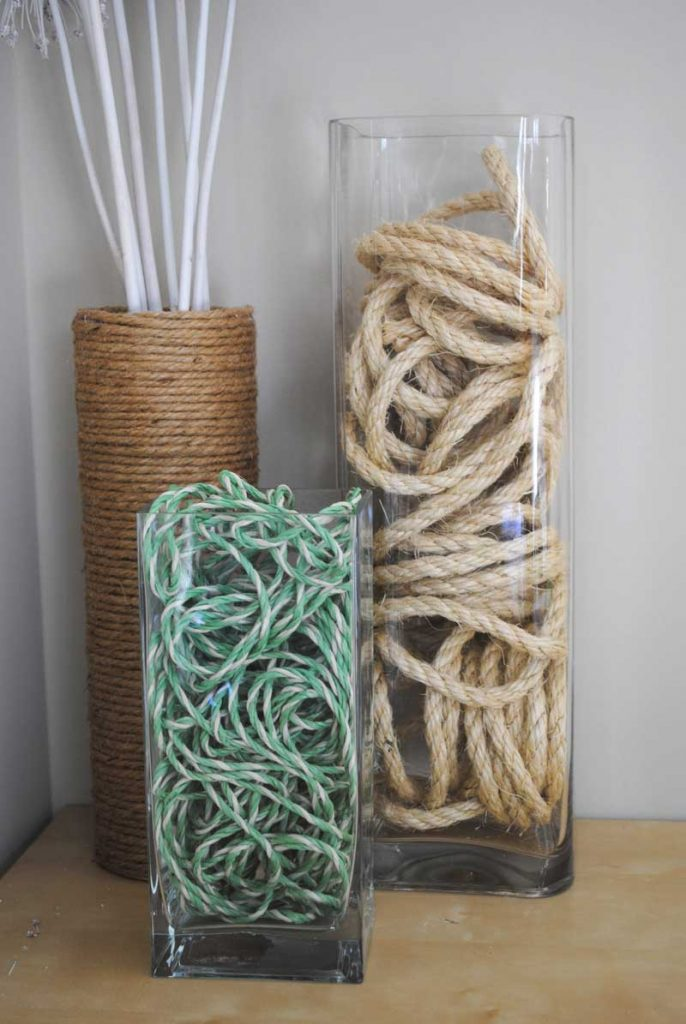 rope decor for a beach house