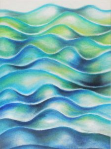 ocean abstract in pastel