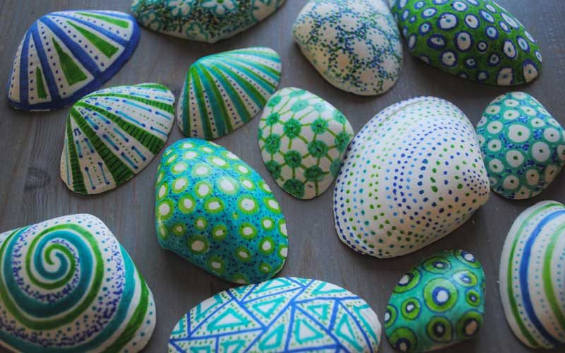 decorated shells
