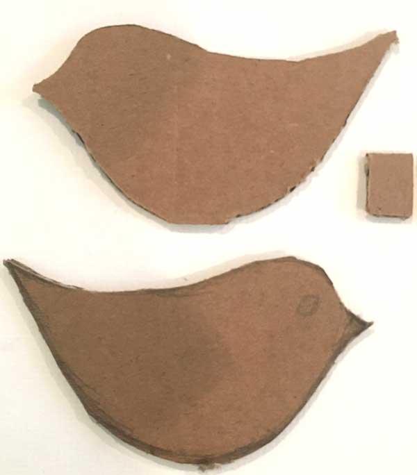 paper mache bird shape