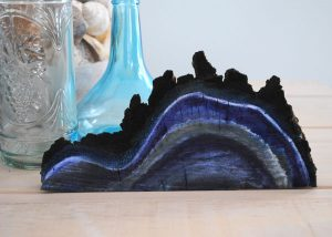 geode painted wood