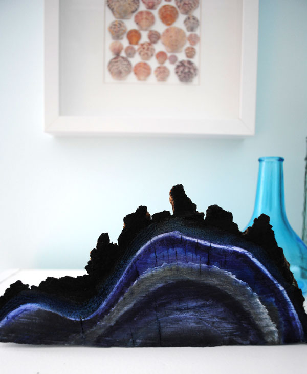 painted geode wood