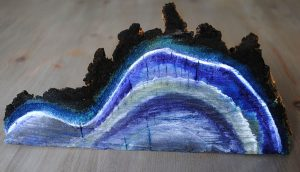 upcycle painted log