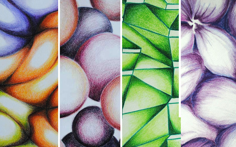 color pencil abstracts