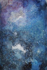 watercolor galaxy painting