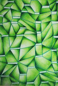 green traingle pencil abstract