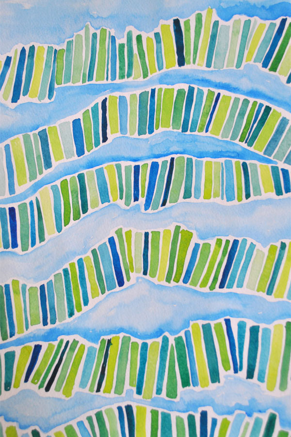 watercolor abstract patterns